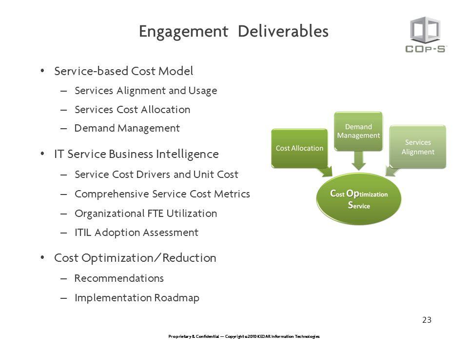 Engagement Deliverables