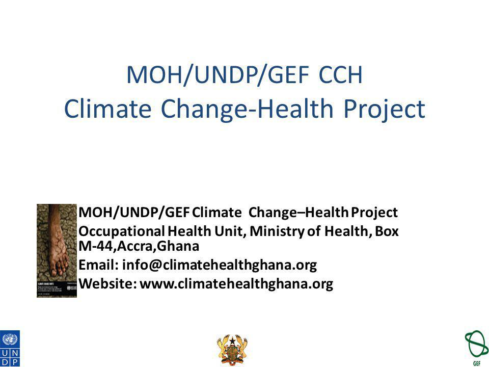 MOH/UNDP/GEF CCH Climate Change-Health Project
