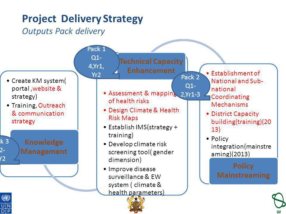 Project Delivery Strategy Outputs Pack delivery