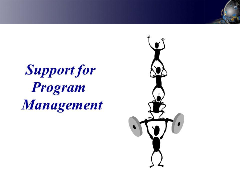 Support for Program Management