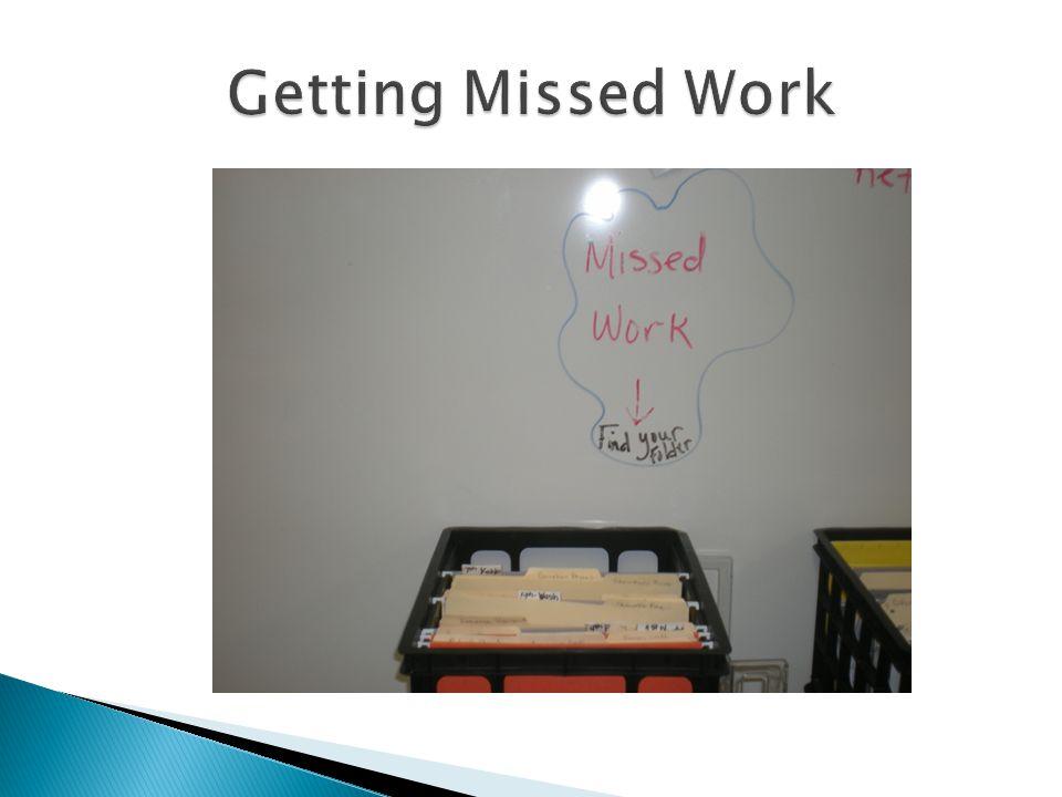 Getting Missed Work