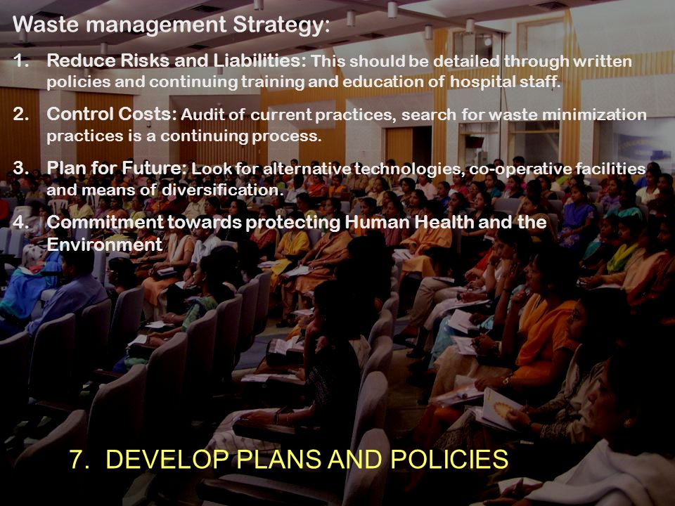 7. DEVELOP PLANS AND POLICIES
