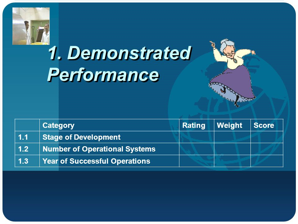 1. Demonstrated Performance