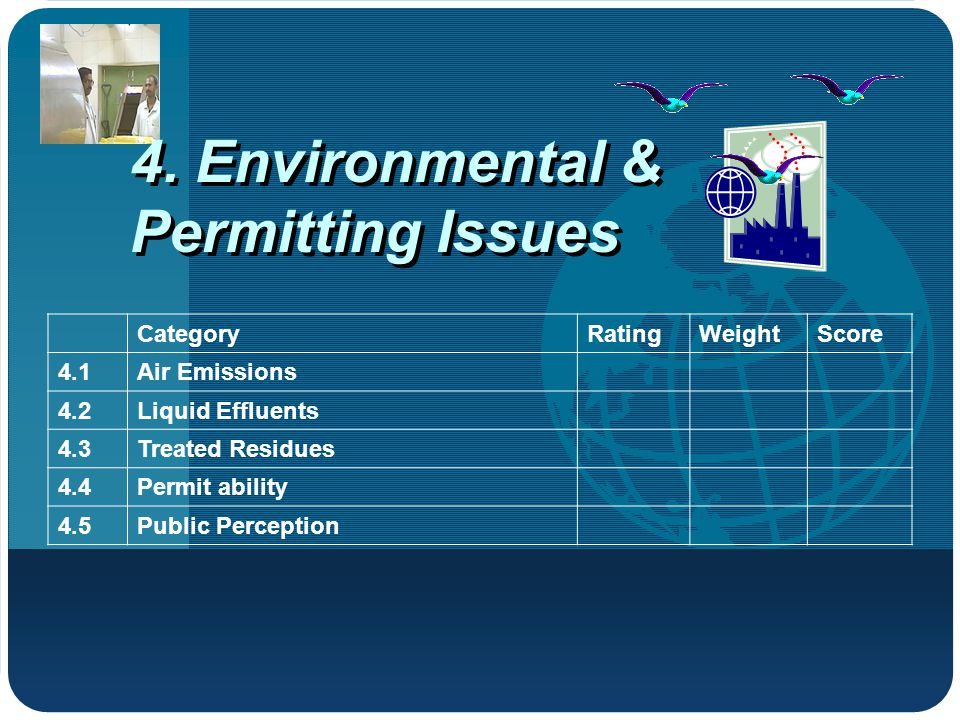 4. Environmental & Permitting Issues