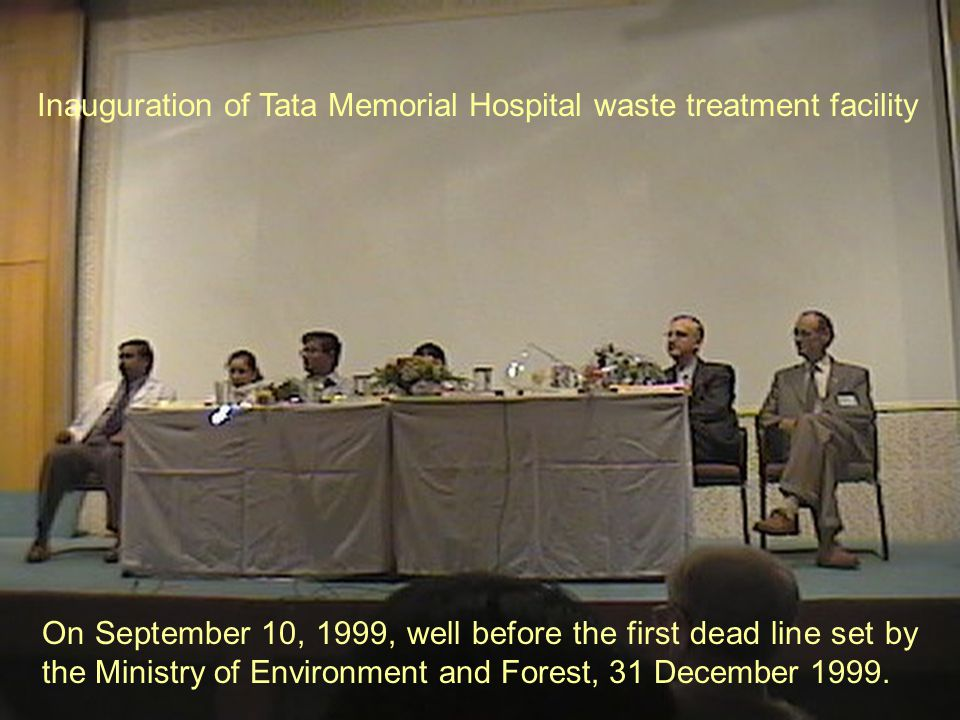 Inauguration of Tata Memorial Hospital waste treatment facility