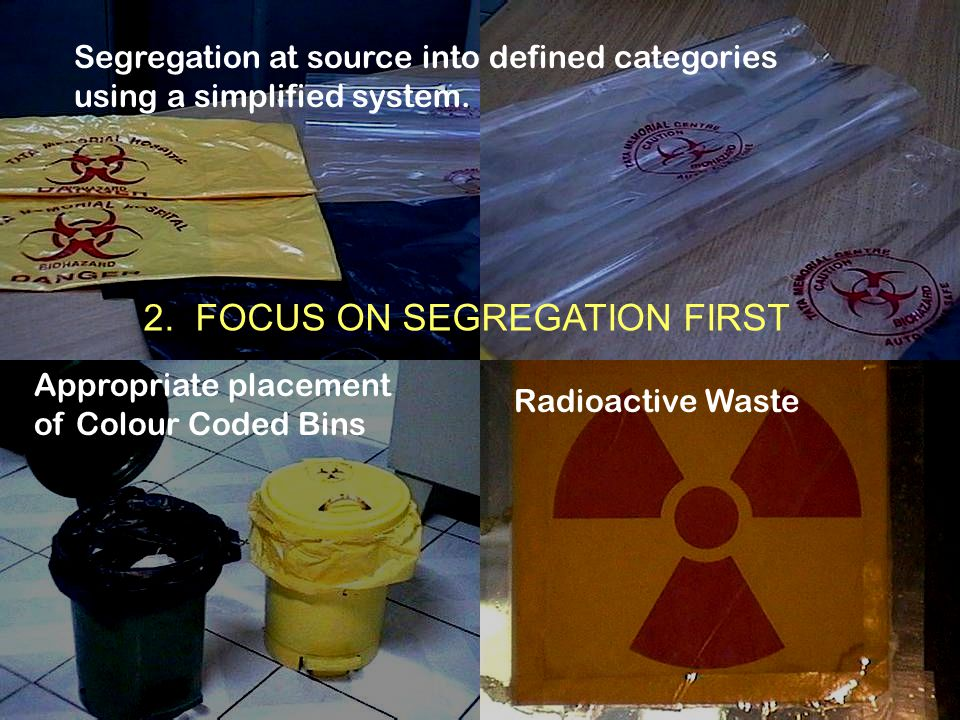 2. FOCUS ON SEGREGATION FIRST