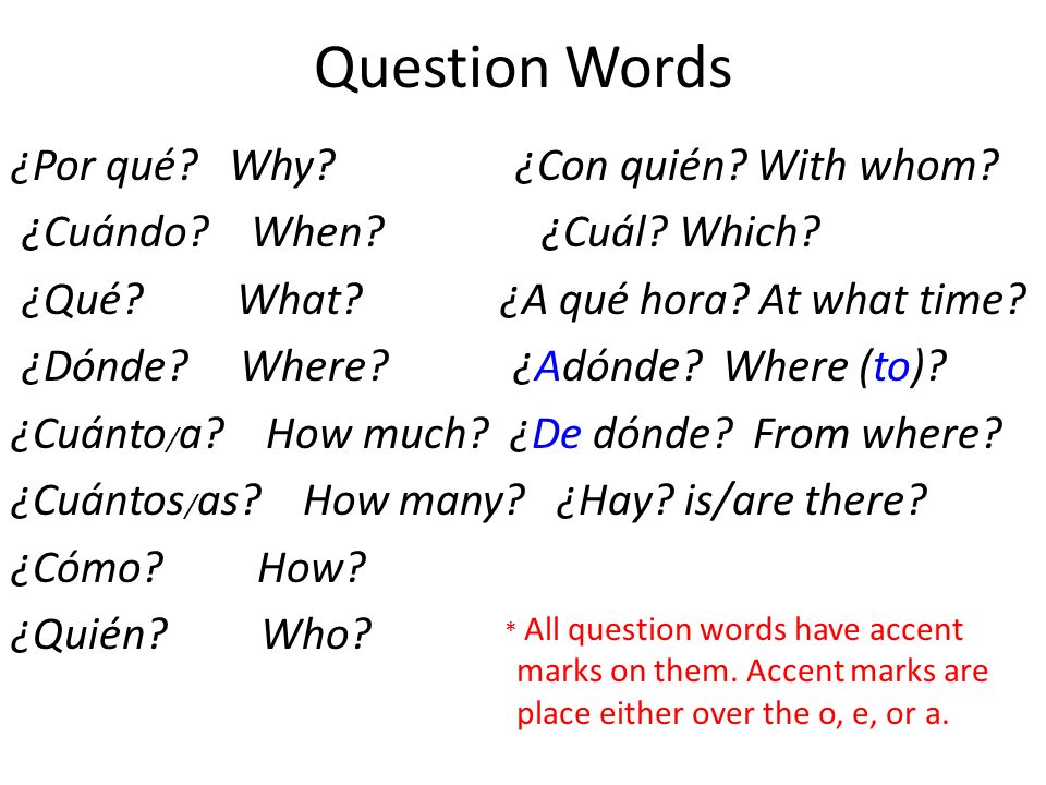 Question Words