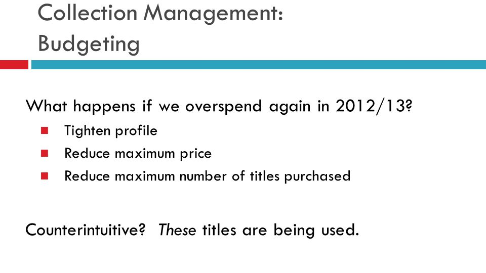 Collection Management: Budgeting