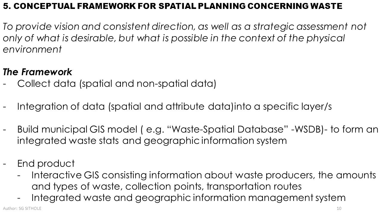 Collect data (spatial and non-spatial data)