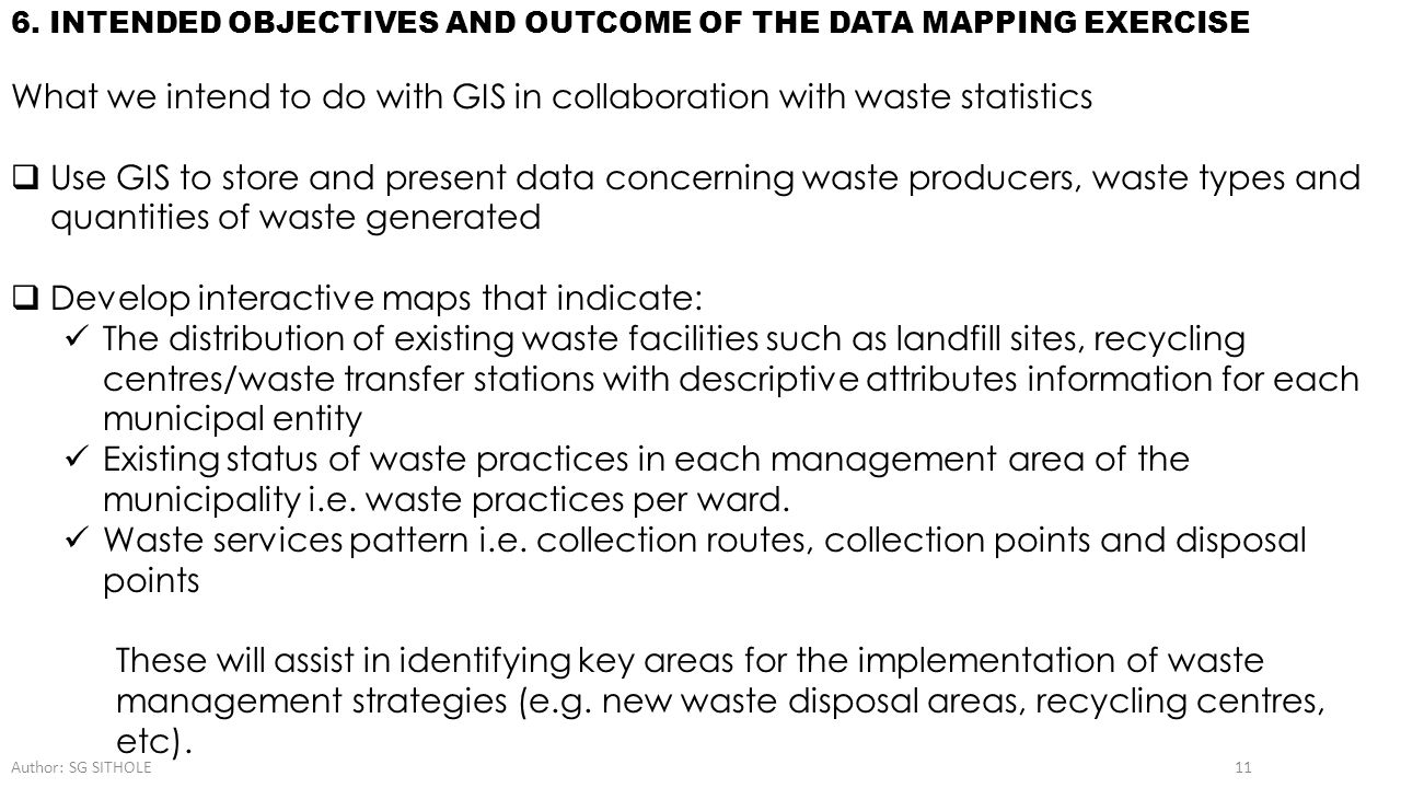 What we intend to do with GIS in collaboration with waste statistics