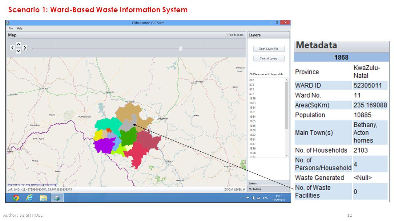 Scenario 1: Ward-Based Waste Information System
