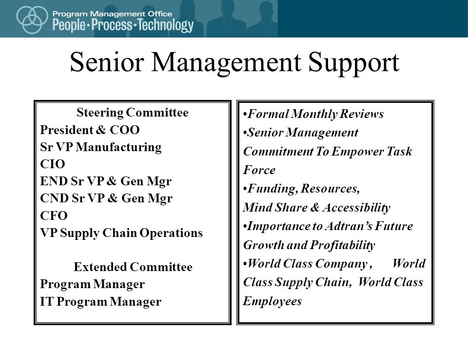 Senior Management Support
