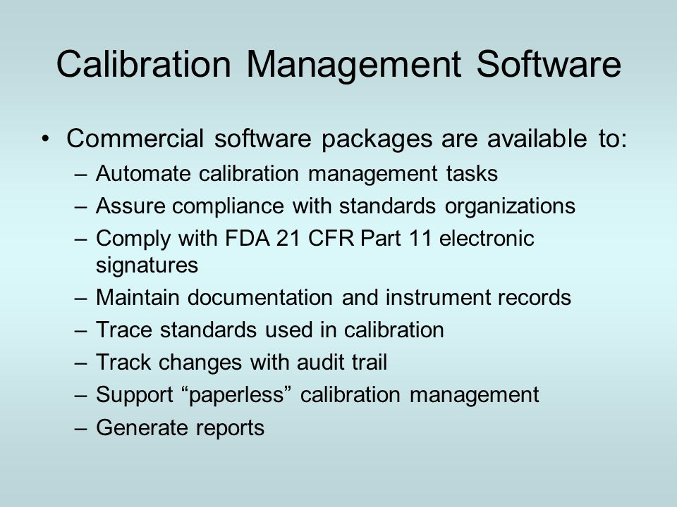 Calibration Management Software