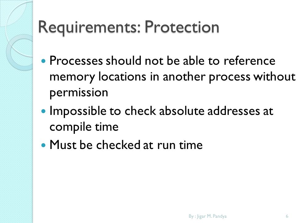 Requirements: Protection