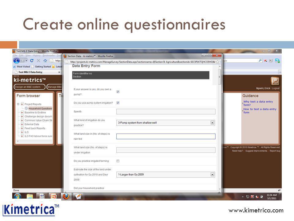 Create online questionnaires