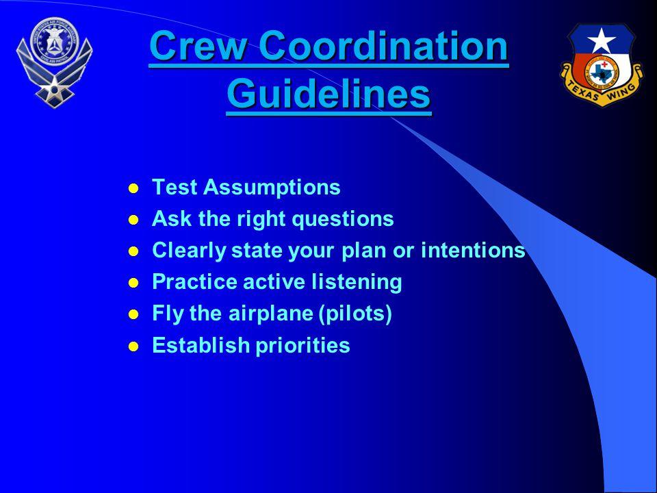 Crew Coordination Guidelines