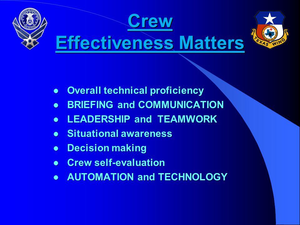 Crew Effectiveness Matters