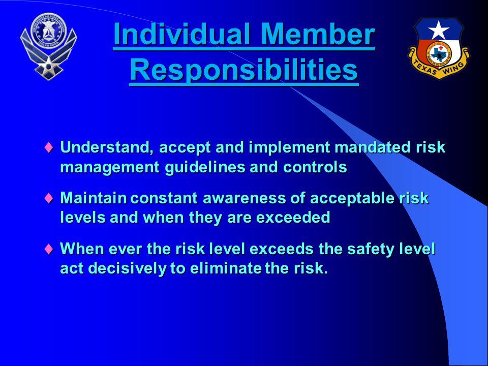 Individual Member Responsibilities