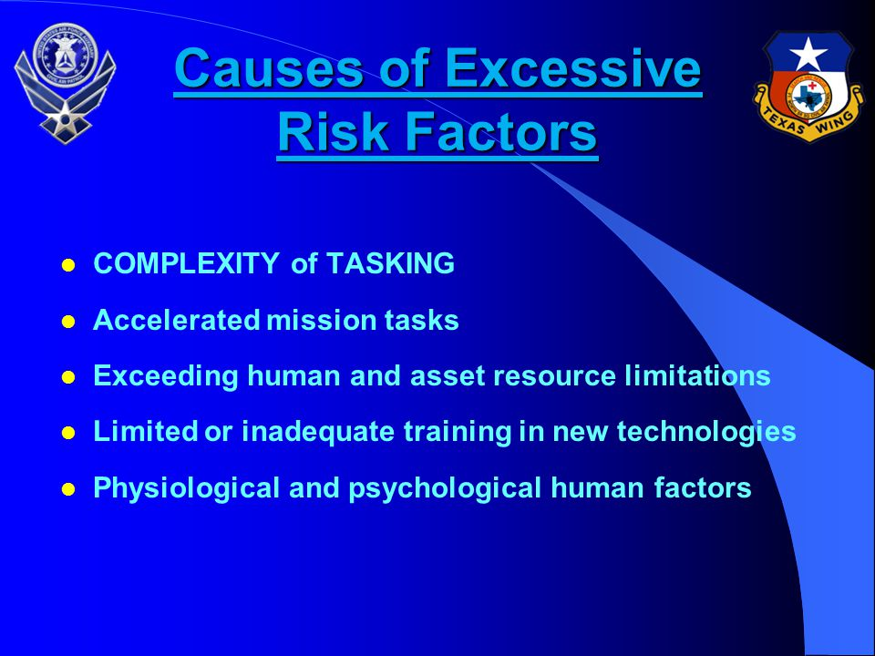 Causes of Excessive Risk Factors