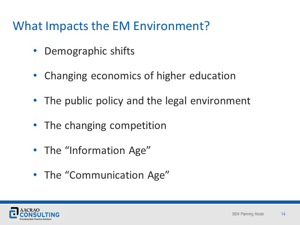 What Impacts the EM Environment
