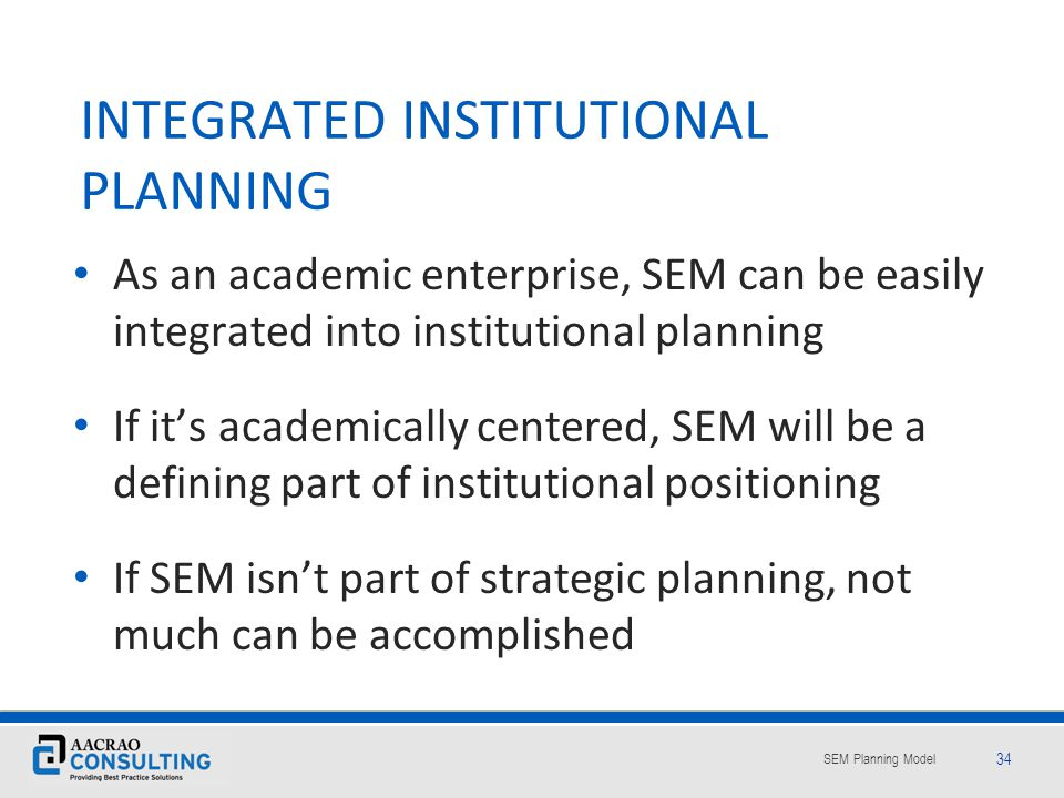 INTEGRATED INSTITUTIONAL PLANNING
