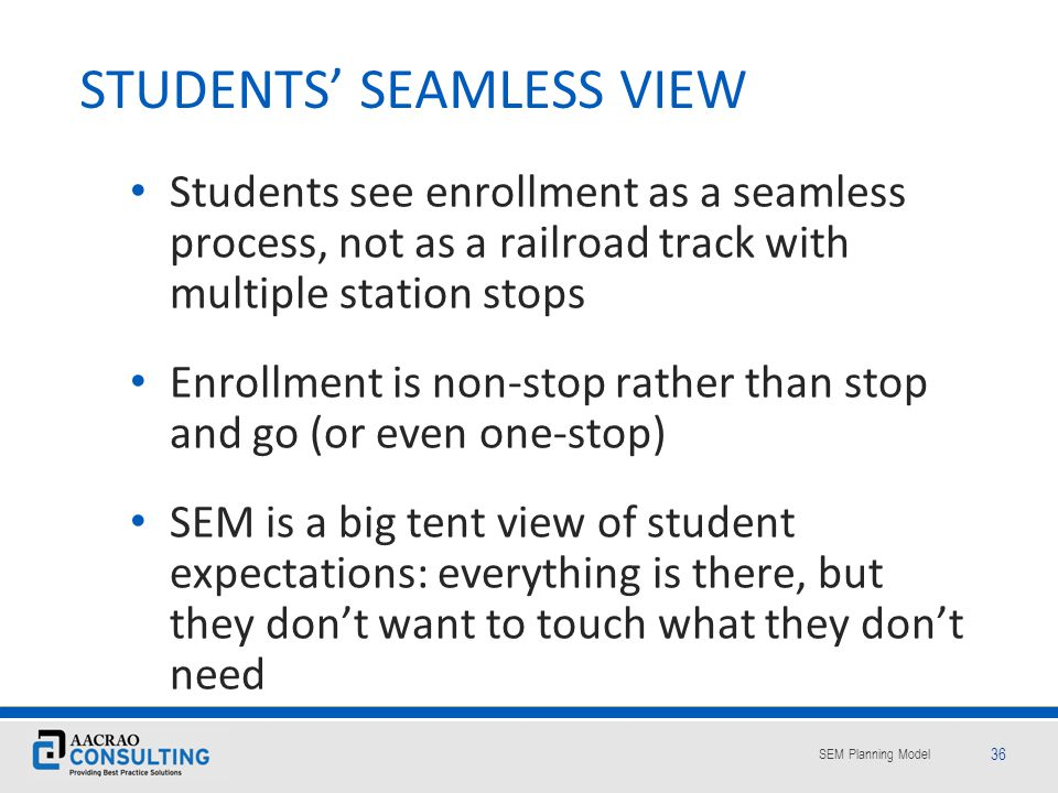 STUDENTS' SEAMLESS VIEW