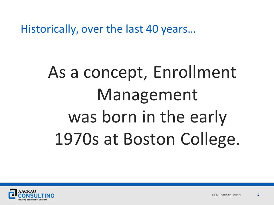 Historically, over the last 40 years…
