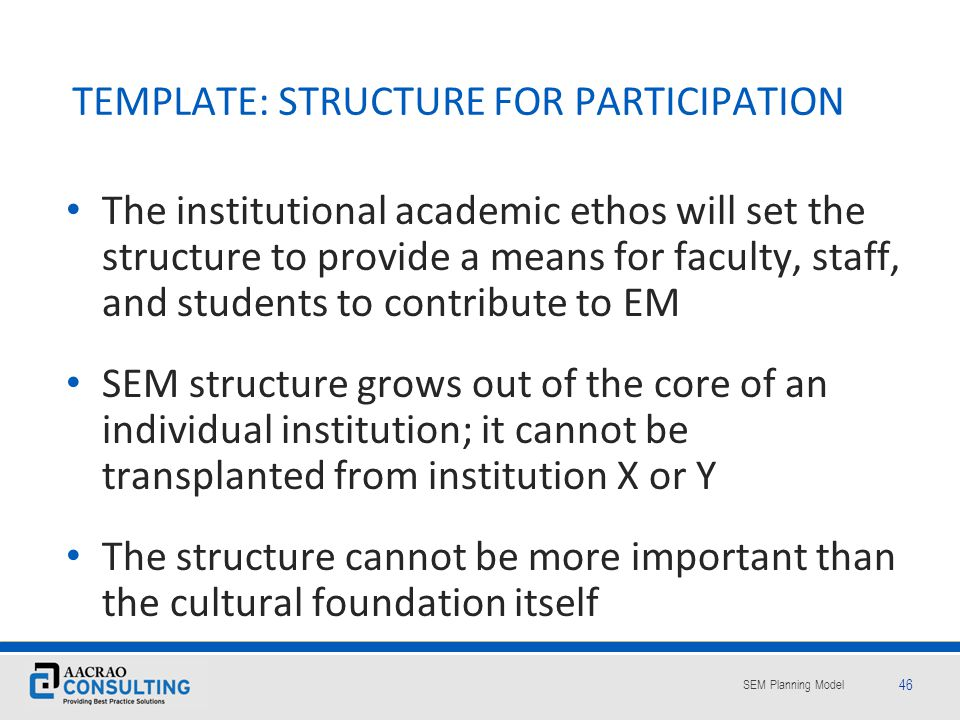 TEMPLATE: STRUCTURE FOR PARTICIPATION