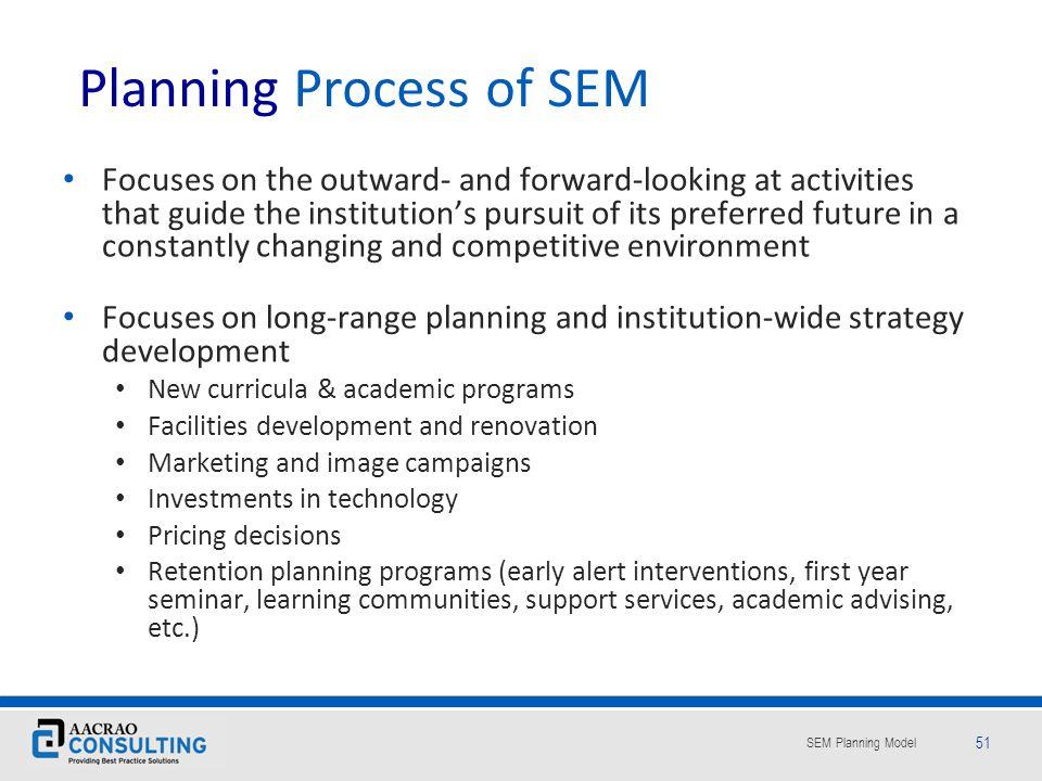 Planning Process of SEM