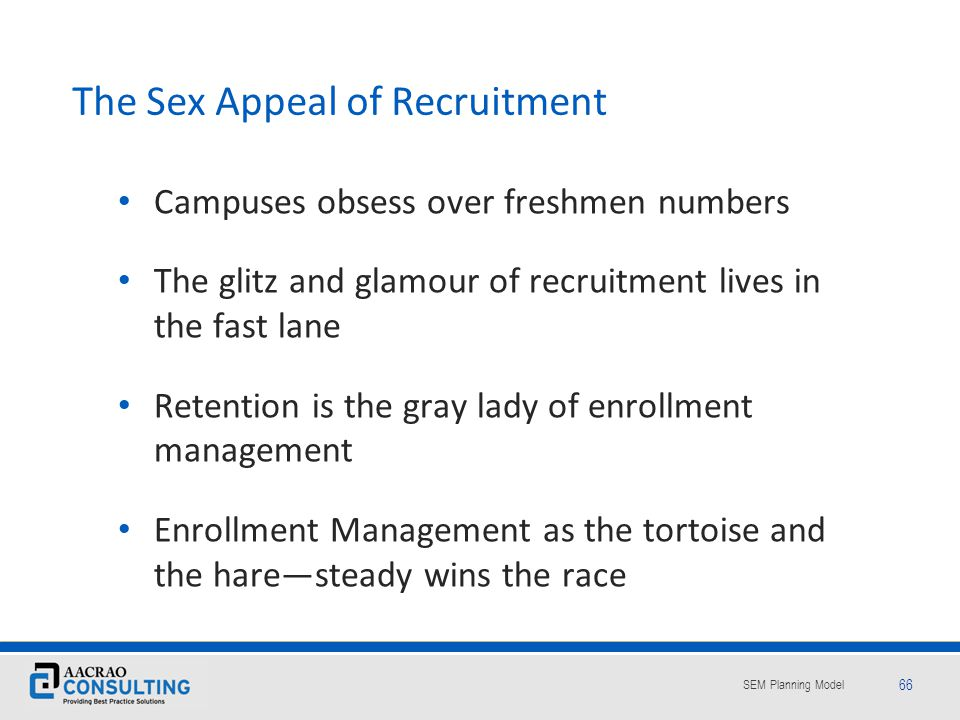 The Sex Appeal of Recruitment
