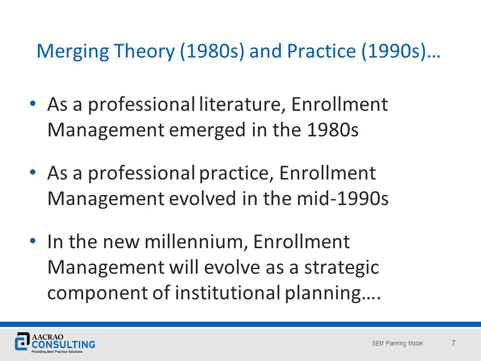 Merging Theory (1980s) and Practice (1990s)…