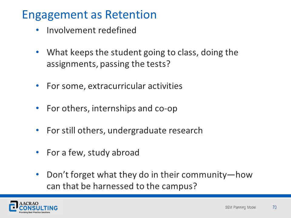 Engagement as Retention