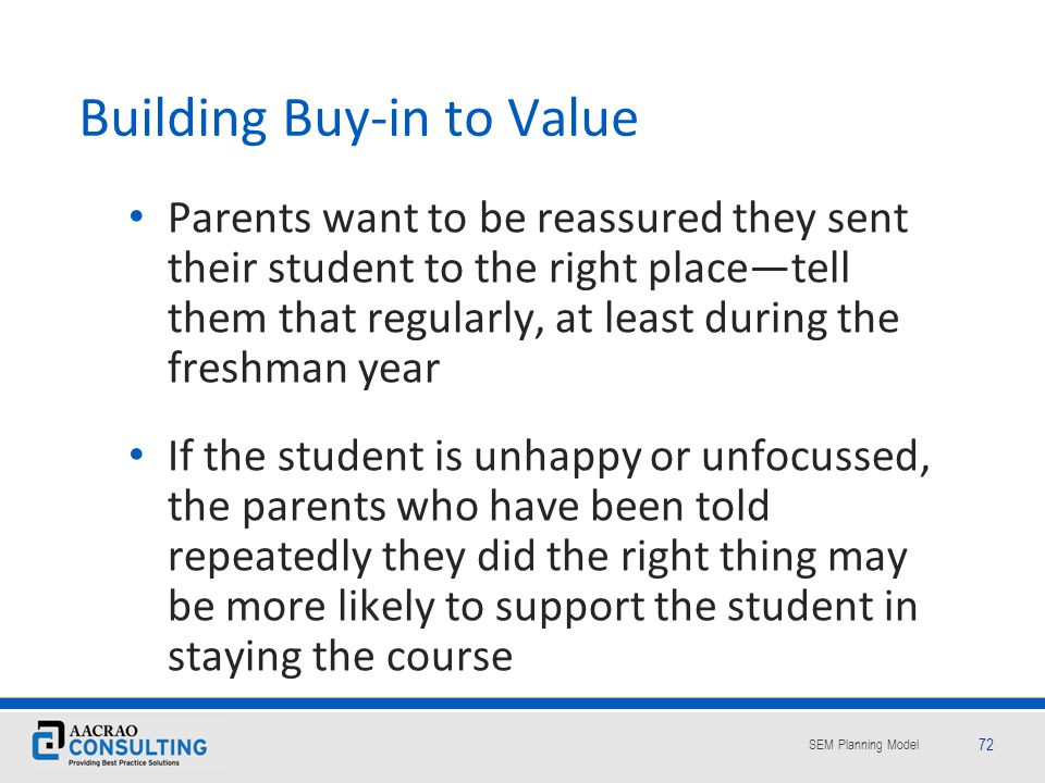Building Buy-in to Value