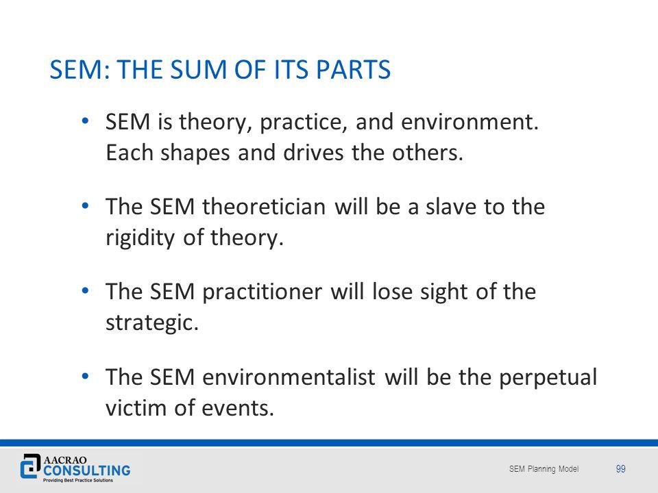 SEM: THE SUM OF ITS PARTS
