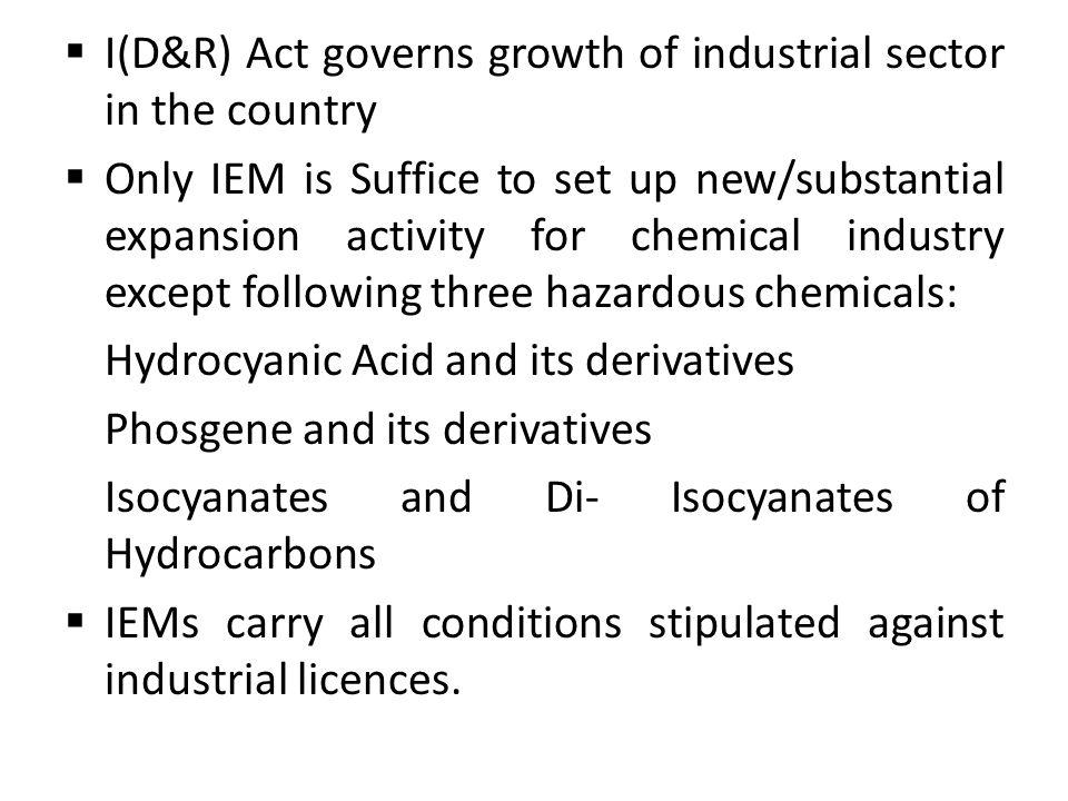I(D&R) Act governs growth of industrial sector in the country