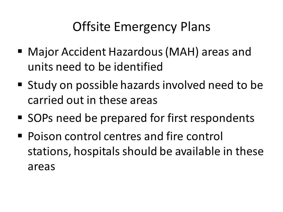 Offsite Emergency Plans