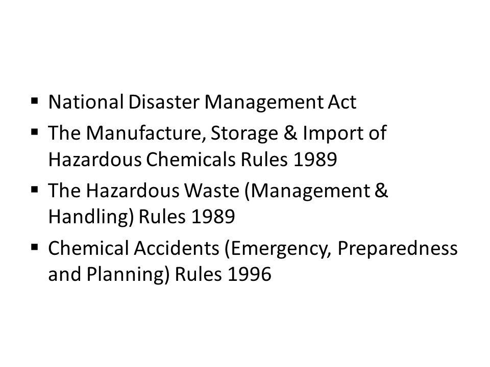 National Disaster Management Act