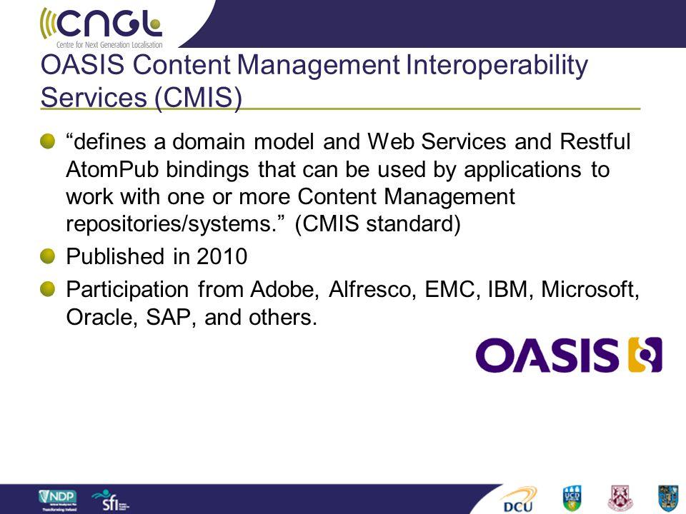 OASIS Content Management Interoperability Services (CMIS)