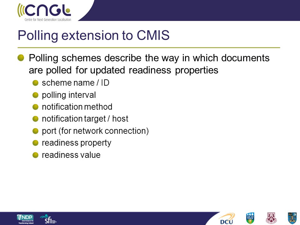 Polling extension to CMIS