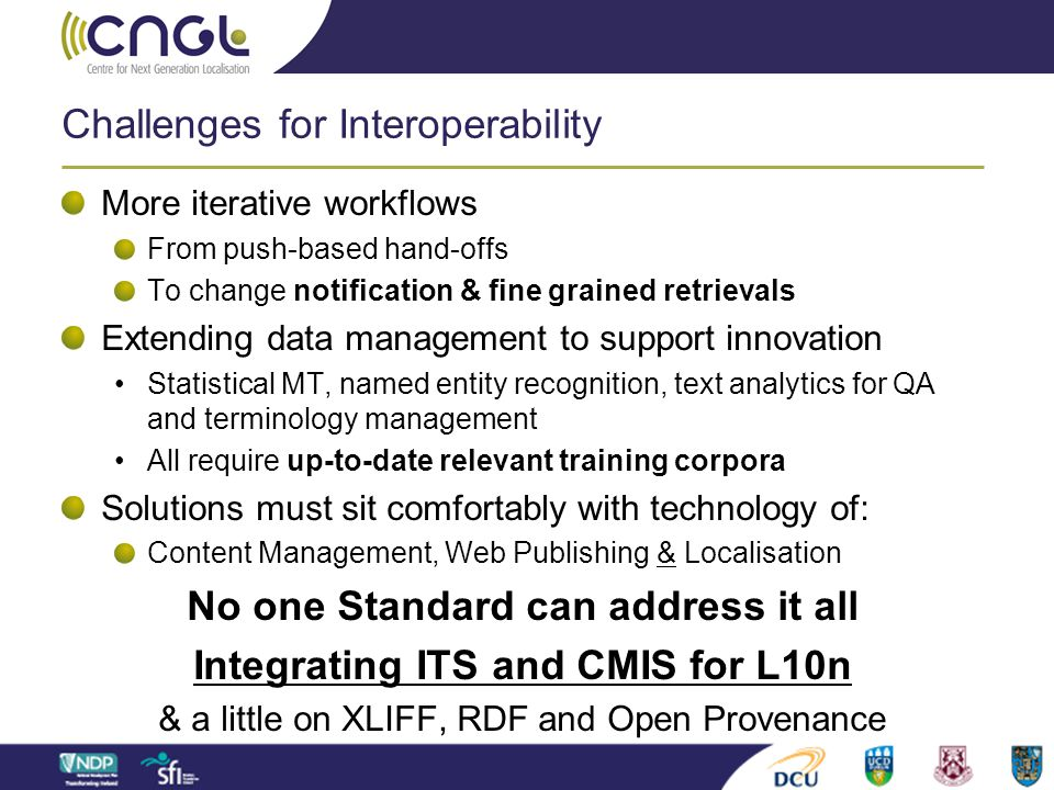 Challenges for Interoperability