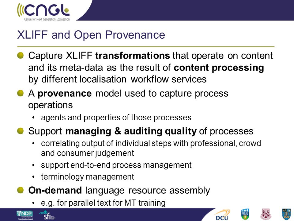 XLIFF and Open Provenance