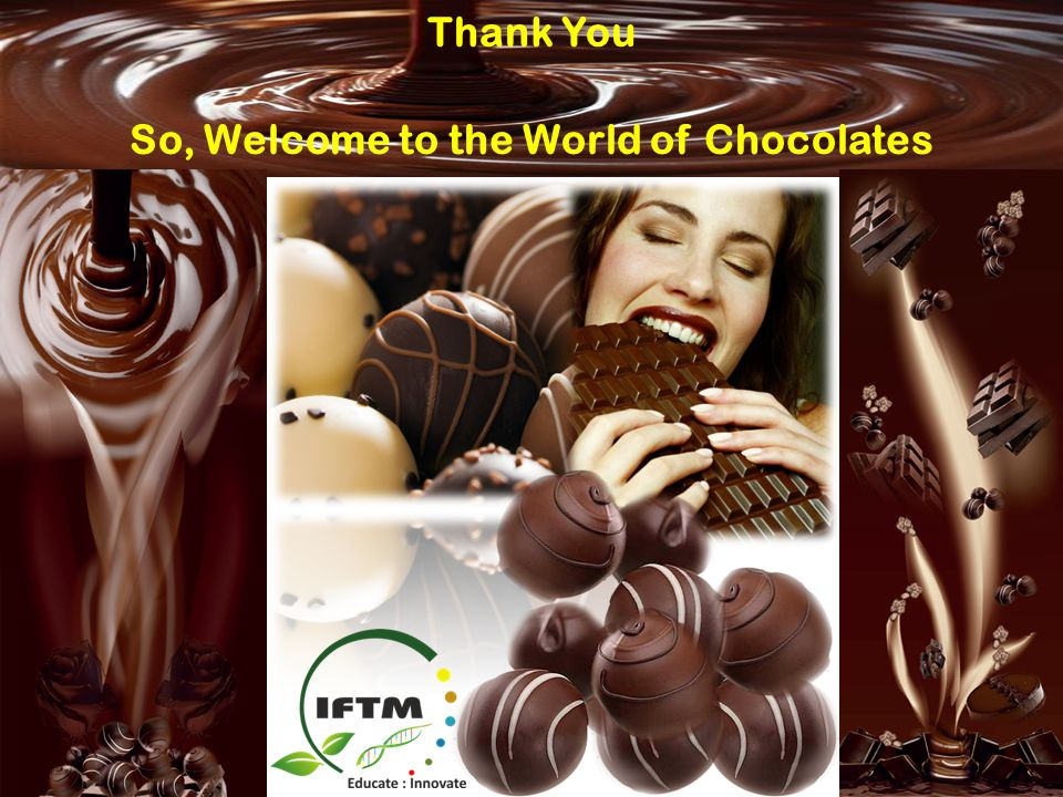 So, Welcome to the World of Chocolates