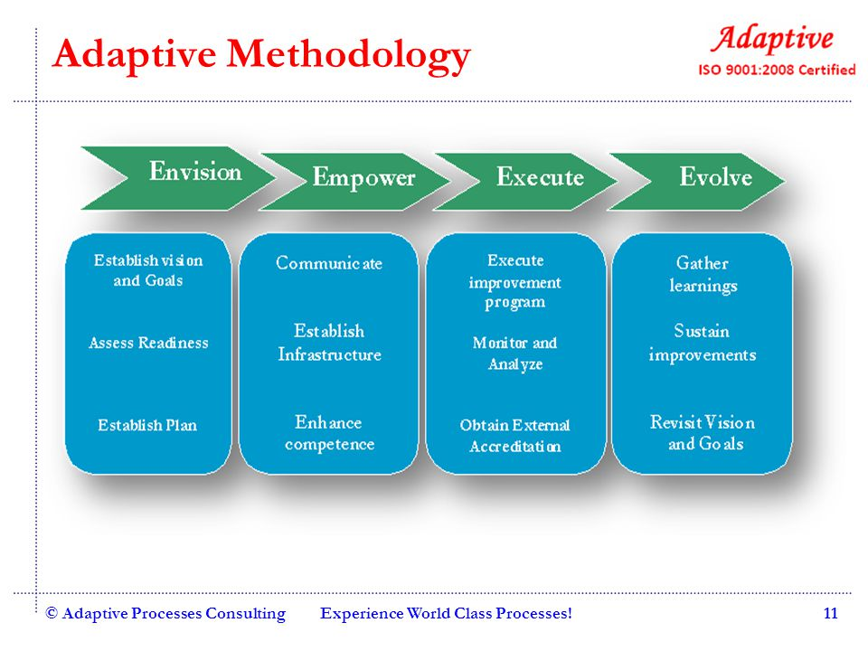 Adaptive Methodology © Adaptive Processes Consulting