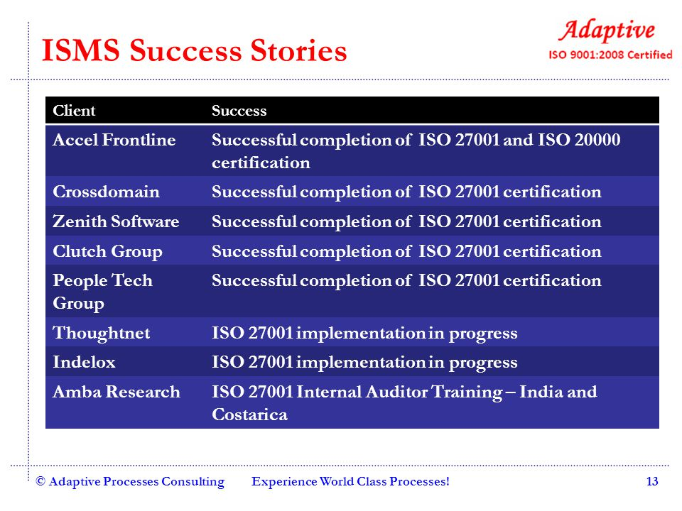 ISMS Success Stories Accel Frontline