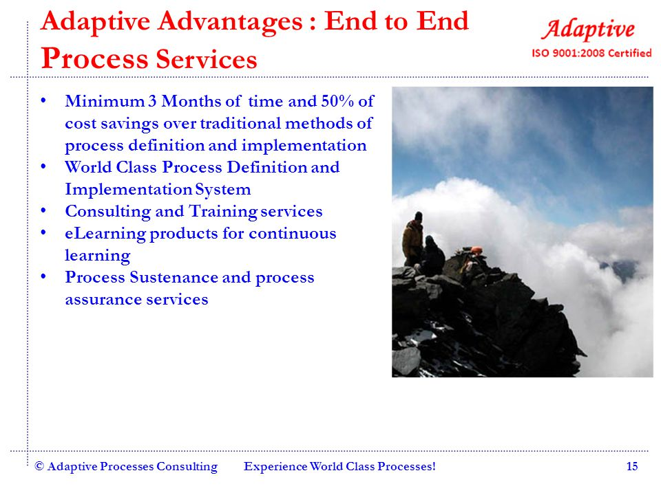 Adaptive Advantages : End to End Process Services