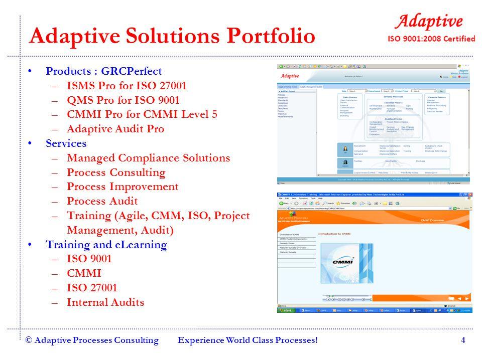 Adaptive Solutions Portfolio