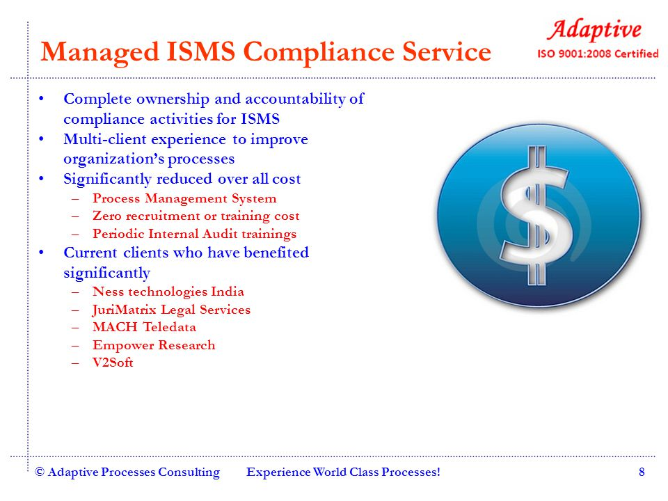 Managed ISMS Compliance Service