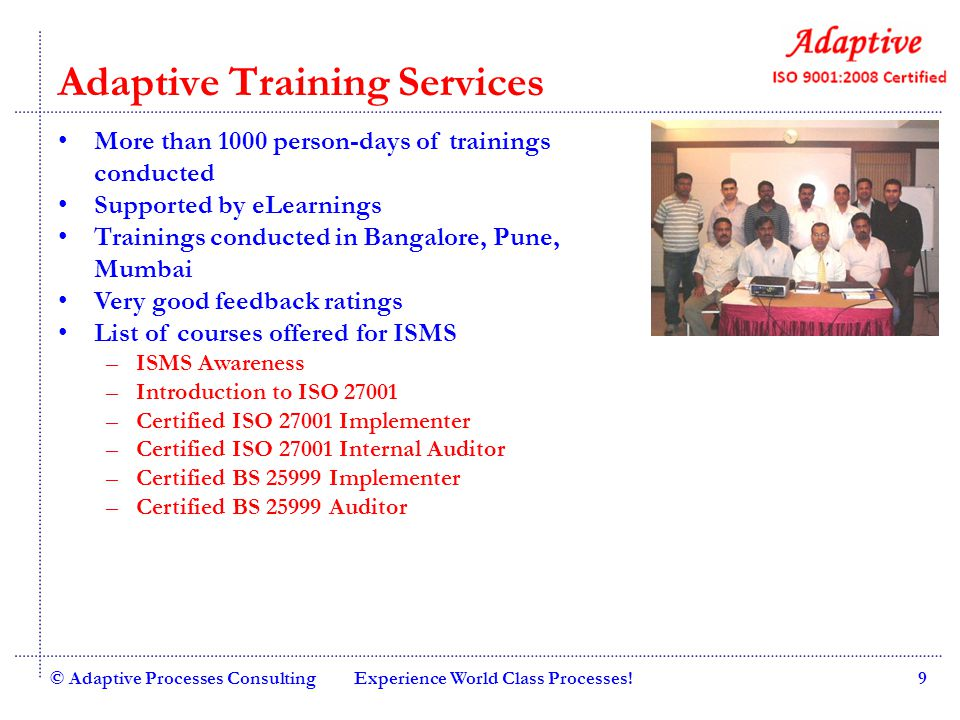 Adaptive Training Services