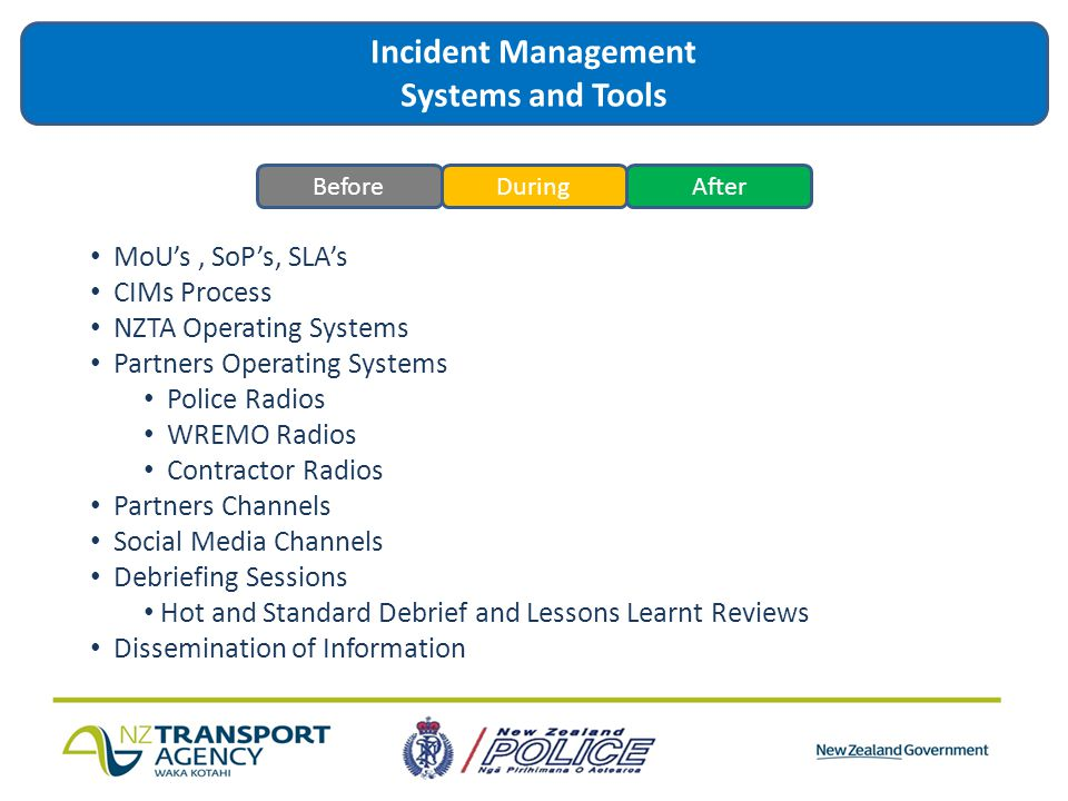 Incident Management Systems and Tools