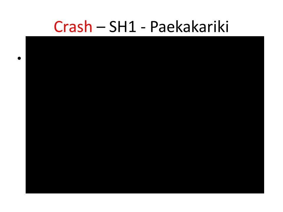 Crash – SH1 - Paekakariki